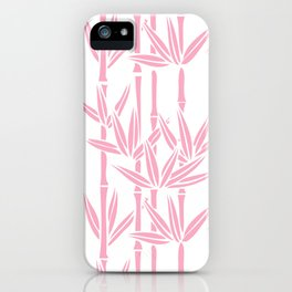 Bamboo Rainfall in Blushing Bride iPhone Case