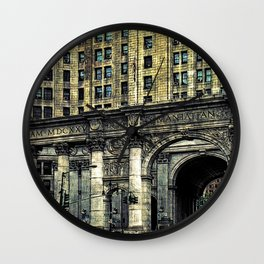 Classic New York Building Wall Clock