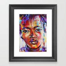 Closer - portrait of a beautiful woman Framed Art Print