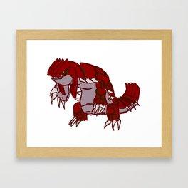Groudon Framed Art Print