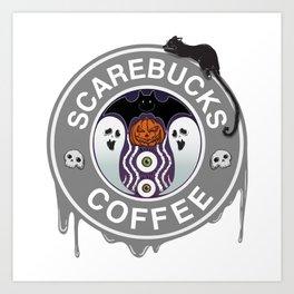 Scarebucks Coffee Art Print