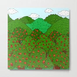 Apple Orchards Metal Print
