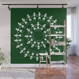 08WA025 Warli Art / Art by Amiee / Painting / Tribal Art / Artist Amiee Wall Mural