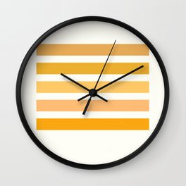 Sunburst Art Print Wall Clock
