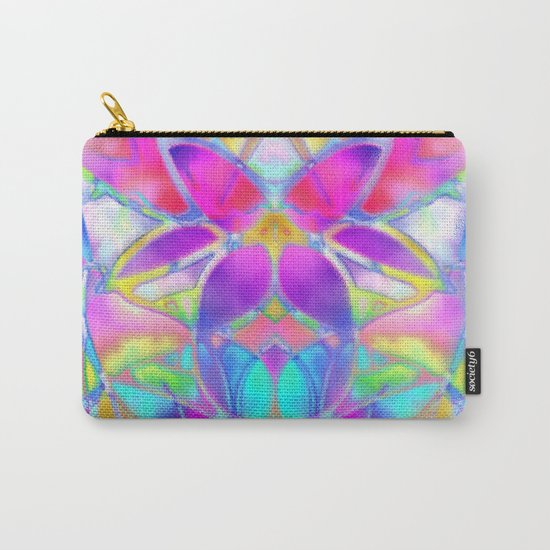 Floral Fractal Art G307 Carry-All Pouch