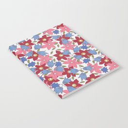 Liberty print in pinks, reds and blues Notebook