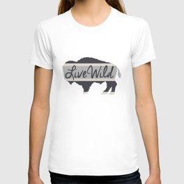 Live Wild | Bison + Stripe T-shirt