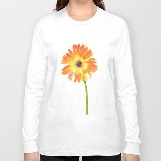orange gerbera Long Sleeve T-shirt