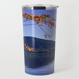 Fall Foliage at Moose Pond in Bridgton, Maine Travel Mug