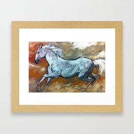 Cavallo bianco Framed Art Print