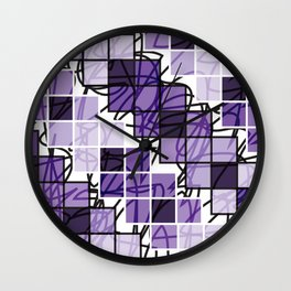 Purple | Squares Wall Clock