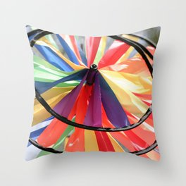 Wind Wheel Throw Pillow