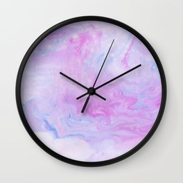 Violet marble Wall Clock