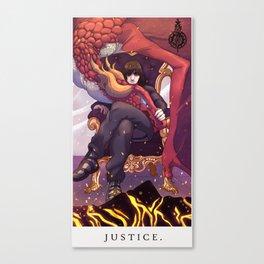 Drakengard Tarot-JUSTICE Canvas Print