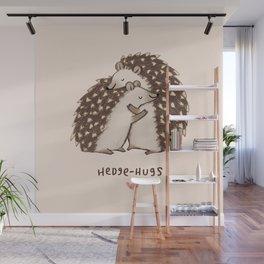 Hedge-hugs Wall Mural