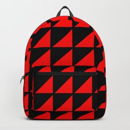 red triangle Backpack