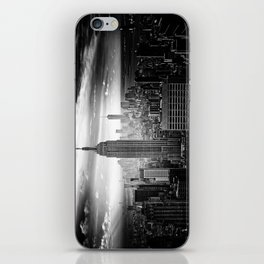 New york city black white 2 iPhone Skin