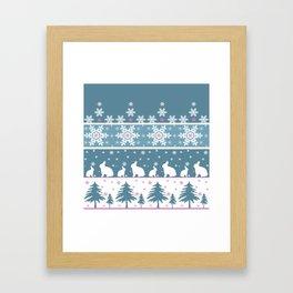 Retro .Christmas . Framed Art Print