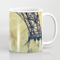 takmaj Mugs featuring Winter in Paris by takmaj