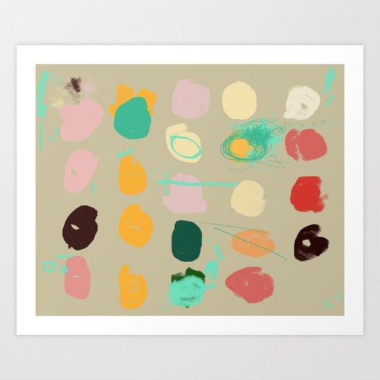 Tops of Ice Cream Cones Like Toupées Art Print