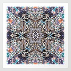 Colorful Kaleidoscopic Abstract Art Print