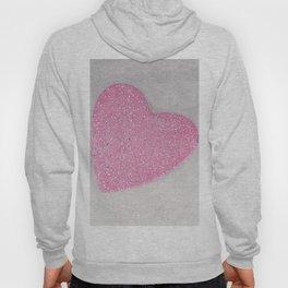 Pink Snow heart Hoody