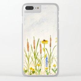 Melissa Hartner wildflowers Clear iPhone Case