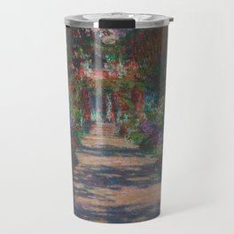 Eine Allee in Monet's Garten in Giverny Travel Mug