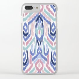 Ikat Ikat Pastel Wandering Clear iPhone Case