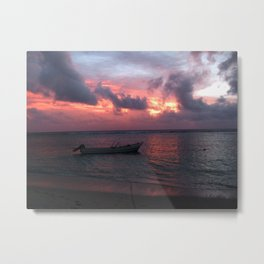 Ha'atafu Beach sunset Metal Print