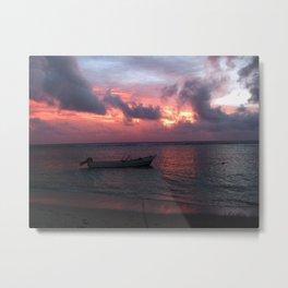 Ha'atafu Beach sunset Metal Print