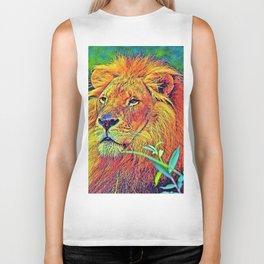 AnimalColor_Lion_005_by_JAMColors Biker Tank