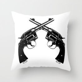 Crossed Revolvers Throw Pillow