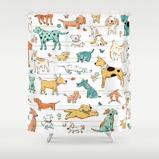 Dogs Dogs Dogs Shower Curtain By Steve Haskamp