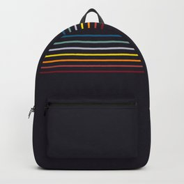 Thin Stripes Retro Colors Backpack