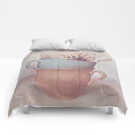 Vintage teacups Comforters