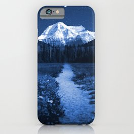 Mountain Path and Forest-Blue iPhone Case