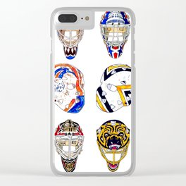 12 Masks Clear iPhone Case