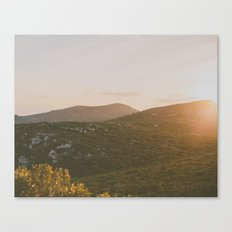 A winter sunset Canvas Print