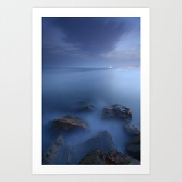 """Blue sea"". Blue hour. Art Print"