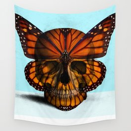 SKULL (MONARCH BUTTERFLY) Wall Tapestry