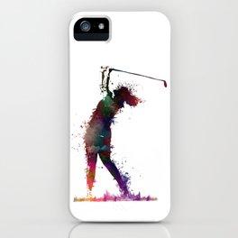 Golf player art 2 iPhone Case