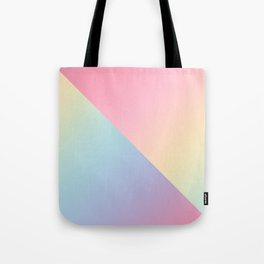 Geometric abstract rainbow gradient Tote Bag