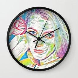 Blake Lively (Creative Illustration Art) Wall Clock