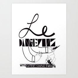 Le Danger Art Print