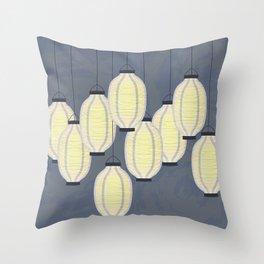 Lanterns 2 Throw Pillow