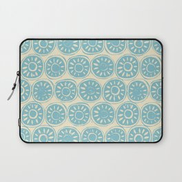 flower block blue ivory Laptop Sleeve