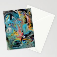 The Storm Abstract Expressionism Art Stationery Cards