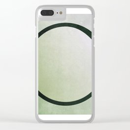 bruised circle Clear iPhone Case