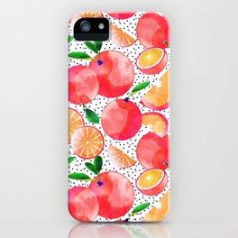 Citrus Love #digitalart #citrus iPhone Case